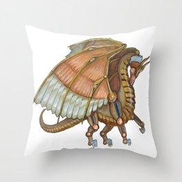 Dragon Steam Throw Pillow