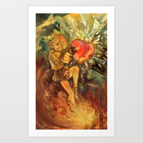 Straight to Your Heart! Art Print