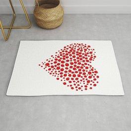 Ladybug heart Rug
