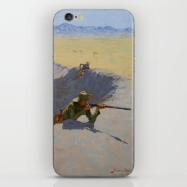 "Frederic Remington Western Art ""Fighting for the Waterhole"" iPhone Skin"