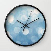 bokeh Wall Clocks featuring bokeh by Claudia Drossert