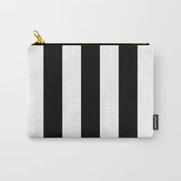 Big Lines Black and White Carry-All Pouch