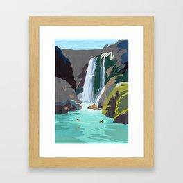 Little fall Framed Art Print
