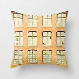 Factory, Maine Throw Pillow