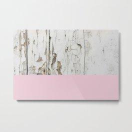 White wood Metal Print