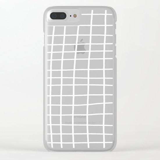 Handdawn Grid Black Clear iPhone Case