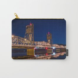 Stillwater MN Lift Bridge at Night Carry-All Pouch