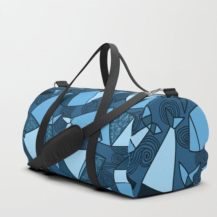 Origami whales Duffle Bag