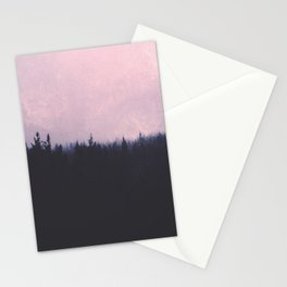 Seamless forest Stationery Cards
