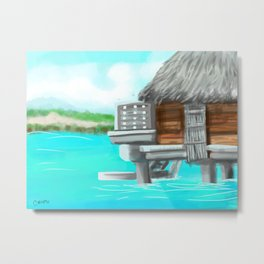 Sitting over the water in Bora Bora  Metal Print