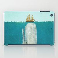 texture iPad Cases featuring The Whale  by Terry Fan
