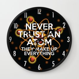 Never trust an atom. They make up everything. Wall Clock