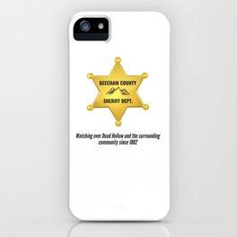 Beecham County Sheriff iPhone Case