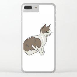 Vigilant Kitty Clear iPhone Case