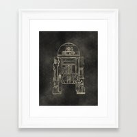 r2d2 Framed Art Prints featuring R2D2 by LindseyCowley