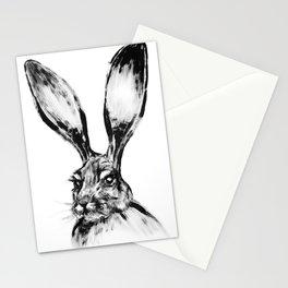Rabbit Painting | Dry Brush | Animal Art | Animals Wall Art | Nature | Animal Forest Stationery Cards