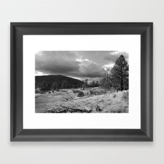 Storm Rising in the Cuyamacas Framed Art Print