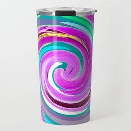 Purple twirl Travel Mug