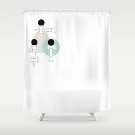 Kendama / passion obsession 1.1 Shower Curtain