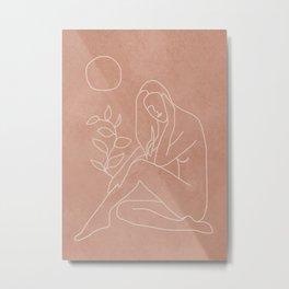 Engraved Nude Line I Metal Print