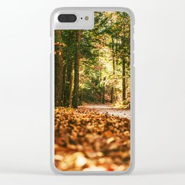 Forest Painting Clear iPhone Case