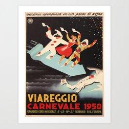 Vintage poster - Viareggio Art Print