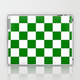 Checkered - White and Green Laptop & iPad Skin