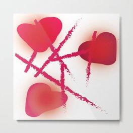 Hearts and Lipstick Metal Print