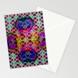 Four-leaved clover abstract ... Stationery Cards