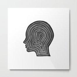 Abstract head profile Metal Print
