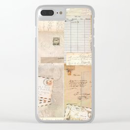 Postcard Love Clear iPhone Case