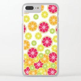 Citrus slices Clear iPhone Case