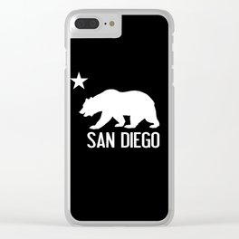 San Diego and California Bear Clear iPhone Case