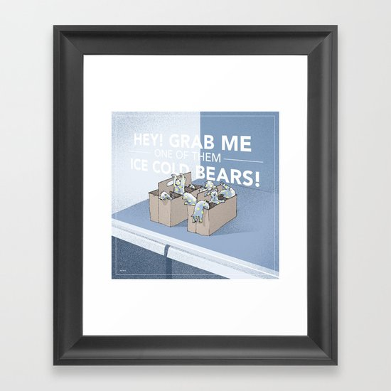 Ice Cold Bears Framed Art Print