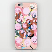 poppies iPhone & iPod Skins featuring Poppies by Jackie Thomson