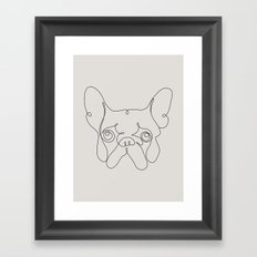 One Line French bulldog Framed Art Print