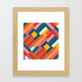 Colorful blocks Framed Art Print