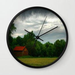 Wisconsin Farm Wall Clock