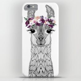 FLOWER GIRL ALPACA iPhone Case