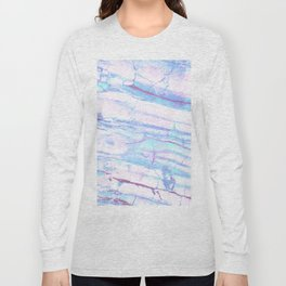 Pastel Marble with Blue Green Purple Long Sleeve T-shirt