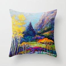 Mountain Aspen Trees  Landscape Throw Pillow