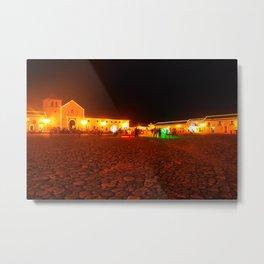 Villa de Leyva at night Metal Print