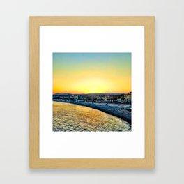 Sunset in Nice, France Framed Art Print