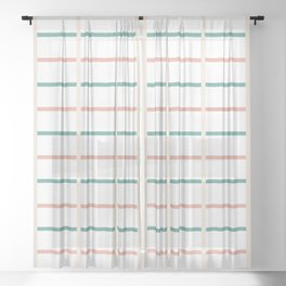 Minimal lines- vertical and horizontal Sheer Curtain