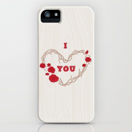 The heart of a wreath iPhone Case