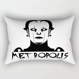 Metropolis white Rectangular Pillow