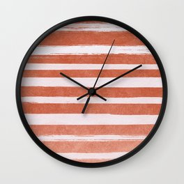 Copper Foil Stripes Wall Clock