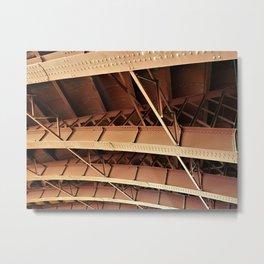Rivets and Girders Metal Print
