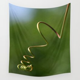 Spring Shaped Passion Flower Tendril  Wall Tapestry