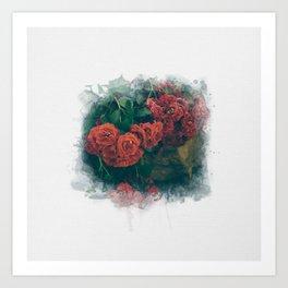Fading Flowers Art Print